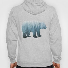 Misty Forest Bear - Turquoise Hoody