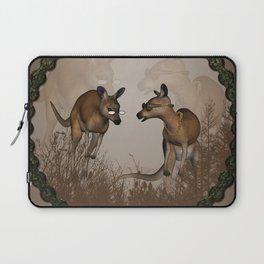 Funny kangaroos Laptop Sleeve