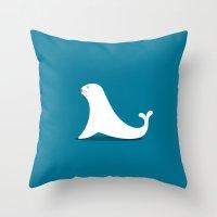 seal Throw Pillows featuring SEAL by Seokhyun Shim