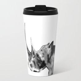 Rhinoceros, black and white Travel Mug