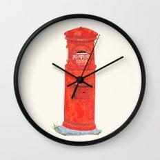 Red Mailbox Wall Clock