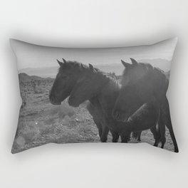 Desert Horses Rectangular Pillow