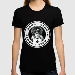 Roots Rock Reggae Roll | Jamaican Rasta Stoner Roots and Spliff Culture T-shirt