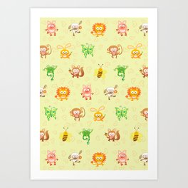 Baby animals Art Print
