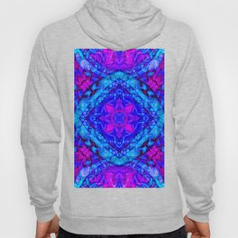 Psychedelic Star Pattern Pink Blue Hoody
