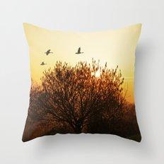 Morning mood Throw Pillow