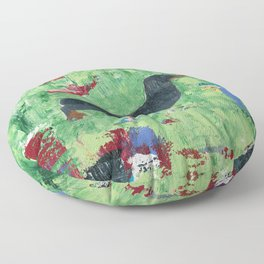 Dachshund Weiner Dog Painting Floor Pillow