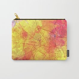 Delhi India Street Map Art Watercolor Lava Explosion Carry-All Pouch