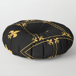 Gold And Black Floor Pillow