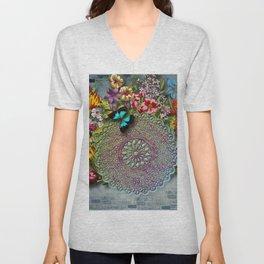 Mandala Flower Unisex V-Neck