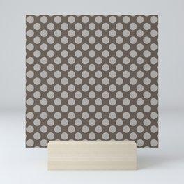 Demitasse Brown Thalertupfen Polka Dots Mini Art Print