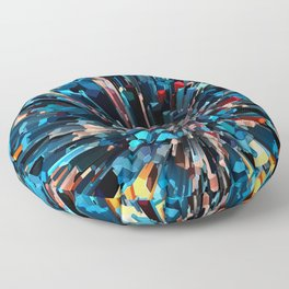 Three Dimensional Color Stacks Floor Pillow