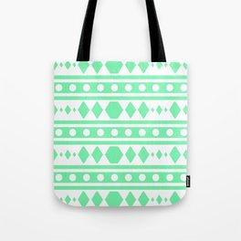 Mint Tribal Pattern Tote Bag