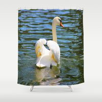 wings Shower Curtains featuring Wings by NaturallyJess