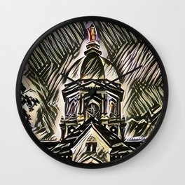 The Golden Dome Wall Clock