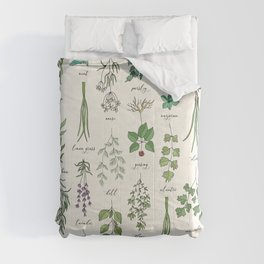 Herbs Collection Pattern Comforters