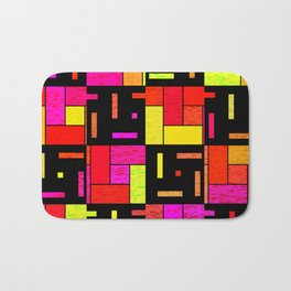 Squares and rectangles Bath Mat