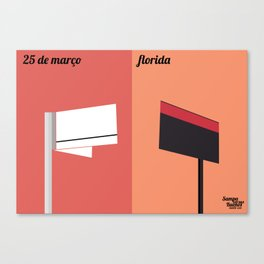 25 de março x Florida Canvas Print