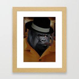 Gangster Gorilla Framed Art Print