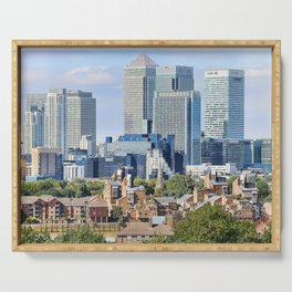 Canary Wharf is a commercial estate in London Serving Tray
