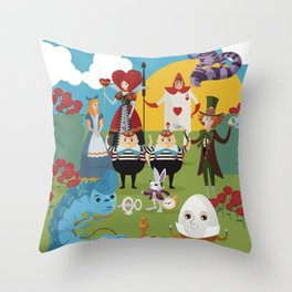 alice in wonderland collection Throw Pillow