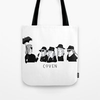 ahs Tote Bags featuring AHS Coven by ☿ cactei ☿