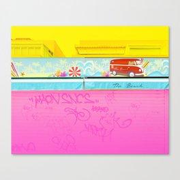 Graffiti Beach Canvas Print