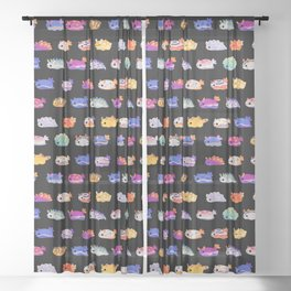 Sea Slug Day Sheer Curtain