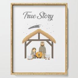 Jesus True Story Christmas Day Xmas Birth of Jesus Birth Story Celebration Serving Tray