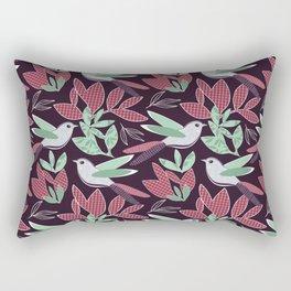 Hedgerow with bird Rectangular Pillow