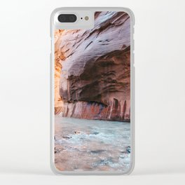 Zion Narrows Clear iPhone Case