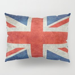 "UK British Union Jack flag ""Bright"" retro Pillow Sham"