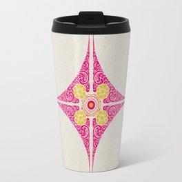 Pata Pattern in Pink & Yellow Travel Mug