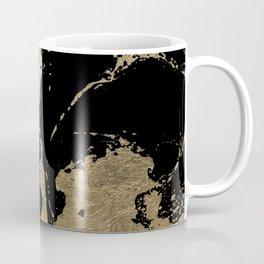 Elegant faux gold foil black chic marble pattern Coffee Mug