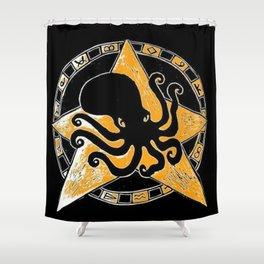 Cephalopod God Shower Curtain