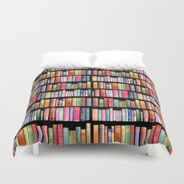 Antique Book Library for Bibliophile Duvet Cover
