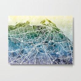 Edinburgh Scotland Street Map Metal Print