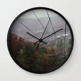 from the ski lift at oktoberfest Wall Clock