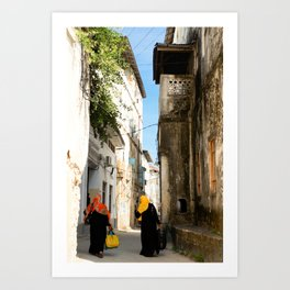 Women on their travels. Art Print