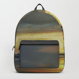 Captivating Sunset Over The Harbor Backpack