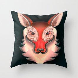 Fox Rabbit Throw Pillow