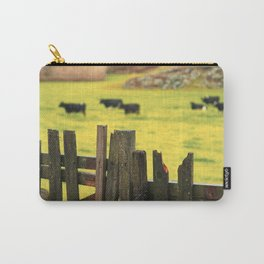 Pasture, fence and cows Carry-All Pouch