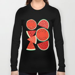 Sliced Watermelon Long Sleeve T-shirt