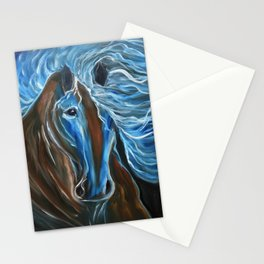 Blue in Motion Stationery Cards