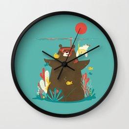 Snorkelling Wall Clock