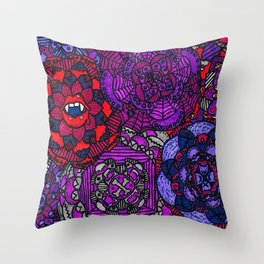 Spooky Flowers Throw Pillow