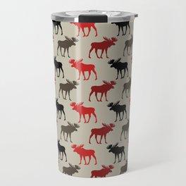 Bull Moose Pattern Travel Mug