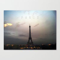 paris Canvas Prints featuring Paris by zenitt