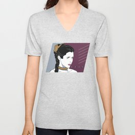 80s Princess Leia Slave Girl Unisex V-Neck