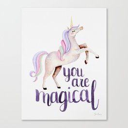 You Are Magical — Rainbow Canvas Print